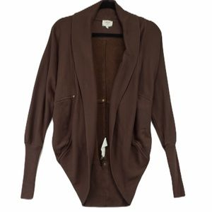 Wilfred XS Brown Diderot Cocoon cardigan
